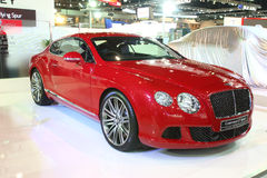 NONTHABURI - NOVEMBER 28: Bentley Continental GTC Speed car on d Royalty Free Stock Images