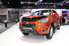 NONTHABURI - NOVEMBER 28:Chevrolet Colorado X-cab 2.5 L 2WD car. On display at The 30th Thailand International Motor Expo on November 28, 2013 in Nonthaburi Stock Image
