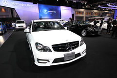 NONTHABURI - NOVEMBER 28:Mercedes-Benz C200 CGI car on display a Royalty Free Stock Photo