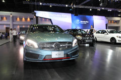 NONTHABURI - NOVEMBER 28:Mercedes-Benz A 250 car on display at T Stock Photo