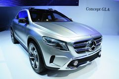 NONTHABURI - NOVEMBER 28: Mercedes Benz GLA concept, concept cro Stock Photo