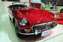 NONTHABURI - NOVEMBER 28: MG B, Classic designed car, on display Stock Photo