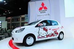 NONTHABURI - NOVEMBER 28: Mitsubishi mirage, Hello kitty edition Stock Photography
