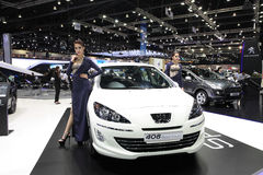 NONTHABURI - NOVEMBER 28: Peugeot 408 Sportium car with unidenti Royalty Free Stock Photo