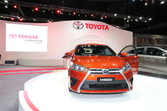 NONTHABURI - NOVEMBER 28: TOYOTA Yaris car on display at The 30t Stock Image