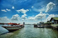 Nonthaburi pier Royalty Free Stock Photo