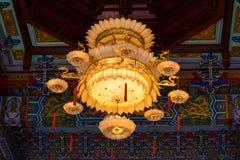 Nonthaburi Tajlandia, Czerwiec, -, 08, 2017: Chiński lampowy wnętrze Zdjęcia Stock