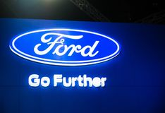 Ford go further Motor Company logo. royalty free stock image
