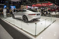NONTHABURI, THAILAND - DECEMBER 9,2017 : View of Jaguar f type car on booths at Thailand. International Motor-Expo 2017 Royalty Free Stock Photo