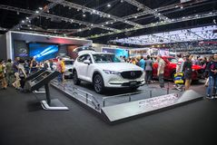 NONTHABURI, THAILAND - DECEMBER 9,2017 : View of Mazda cx5 car on booths at Thailand Royalty Free Stock Photo