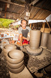 He man is producing the pottery royalty free stock photography