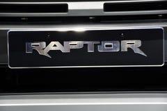 Nonthaburi THAILAND - mars 30, 2018: Skyddsgaller den nya Ford Raptor på BANGKOK DEN MOTORISKA SHOWEN 2018 arkivfoto