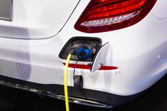 New Automotive Innovations, the charging the battery for the Mercedes-Benz Car. Nonthaburi Thailand:- Nov 30, 2018: New Automotive Innovations, the charging the royalty free stock photography