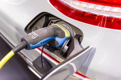 New Automotive Innovations, the charging the battery for the Mercedes-Benz Car. Nonthaburi Thailand:- Nov 30, 2018: New Automotive Innovations, the charging the stock images
