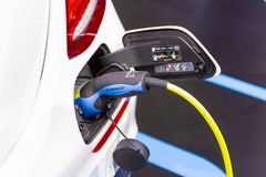 New Automotive Innovations, the charging the battery for the Mercedes-Benz Car. Nonthaburi Thailand:- Nov 30, 2018: New Automotive Innovations, the charging the royalty free stock images