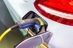New Automotive Innovations, the charging the battery for the Mercedes-Benz Car. Nonthaburi Thailand:- Nov 30, 2018: New Automotive Innovations, the charging the stock photos