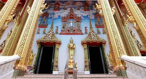 Mural paintings featuring Buddha`s life royalty free stock photography
