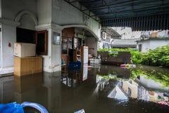 Nonthaburivloed in Thailand de 2011-levensstijl van mensen in mas Royalty-vrije Stock Foto