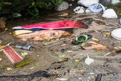 Nonthaburivloed in Thailand de 2011-levensstijl van mensen in mas Stock Afbeelding