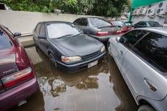 Nonthaburivloed in Thailand de 2011-levensstijl van mensen in mas Royalty-vrije Stock Afbeelding