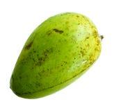 Nontoxic för mangofrukt som isoleras på vit bakgrund Arkivfoto