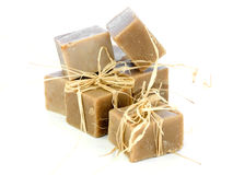 Nontoxic handmade soap bars Royalty Free Stock Photos
