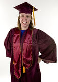 Nontraditional Student Graduating Stock Photo