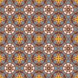 Nontrivial färgabstrakt begreppmodell, sömlös vektor arkivbild