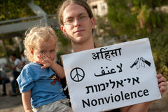 Nonviolence Stock Photo