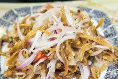 Nonya Anchovies Dish Stock Photo