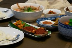 Nonya or Peranakan Food are super delicious stock photography