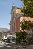 Nonza,欧特Corse,可西嘉岛,上部可西嘉岛,法国,欧洲,海岛 免版税图库摄影