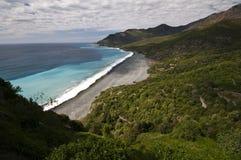Nonza beach Stock Photography