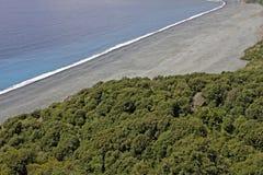 Nonza, Gray beach at the west coast of Cap Corse, Corsica, France Royalty Free Stock Photos