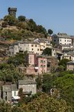 Nonza, Haute-Corse, Corsica, Hoger Corsica, Frankrijk, Europa, eiland Royalty-vrije Stock Foto