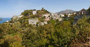 Nonza, Haute-Corse, Corsica, Hoger Corsica, Frankrijk, Europa, eiland Stock Foto's