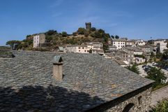 Nonza Haute Corse, Korsika, övreKorsika, Frankrike, Europa, ö Royaltyfri Bild