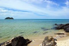 Noo Inselansicht vom Samila Strand Lizenzfreie Stockfotos