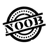 Noob rubber stamp Stock Photos