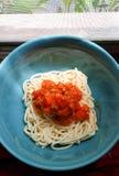 Noodel spagetti, pasta Royaltyfria Foton