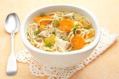 Noodle κοτόπουλου σούπα οριζόντια Στοκ εικόνα με δικαίωμα ελεύθερης χρήσης