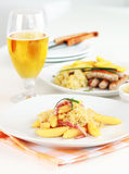 noodle λάχανων μπέϊκον κύλησε ξινό Στοκ εικόνες με δικαίωμα ελεύθερης χρήσης