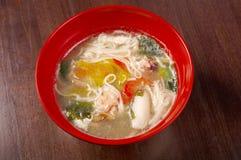 noodle σούπα θαλασσινών Στοκ Εικόνα