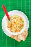Noodle σούπα με τα λαχανικά Στοκ Εικόνες
