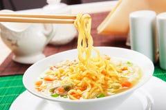 Noodle σούπα με τα λαχανικά Στοκ εικόνες με δικαίωμα ελεύθερης χρήσης