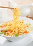 Noodle σούπα με τα λαχανικά Στοκ φωτογραφίες με δικαίωμα ελεύθερης χρήσης