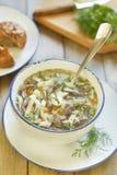 Noodle σούπα με τις καρδιές της Τουρκίας Στοκ εικόνες με δικαίωμα ελεύθερης χρήσης