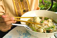 Noodle σούπα με το κρέας Στοκ Φωτογραφία