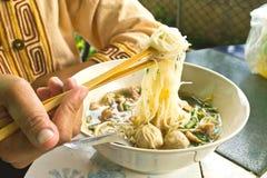 Noodle σούπα με το κρέας Στοκ Εικόνες
