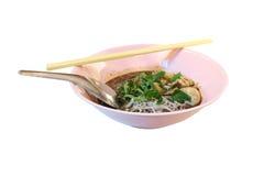 Noodle σούπα με το χοιρινό κρέας Στοκ φωτογραφία με δικαίωμα ελεύθερης χρήσης